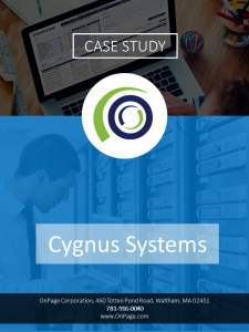 Cygnus case study cover image