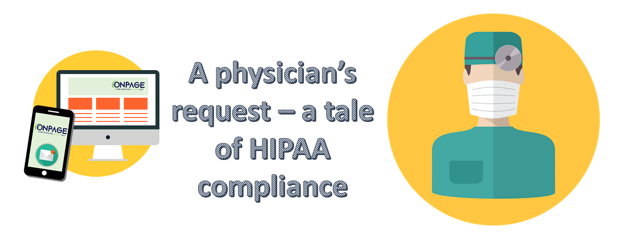 HIPAA compliant messaging for doctors