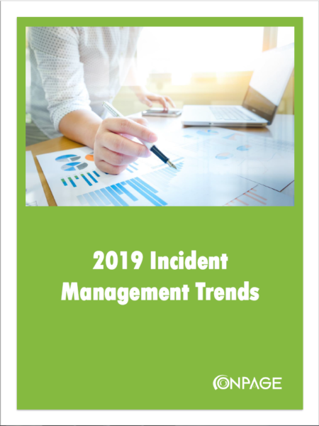 2019 Incident Management Trends report cover