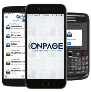 OnPage secure messaging works wherever you have cellular or wireless (Wi-Fi) coverage