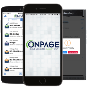OnPage enables message redundancy to SMS and e-mail