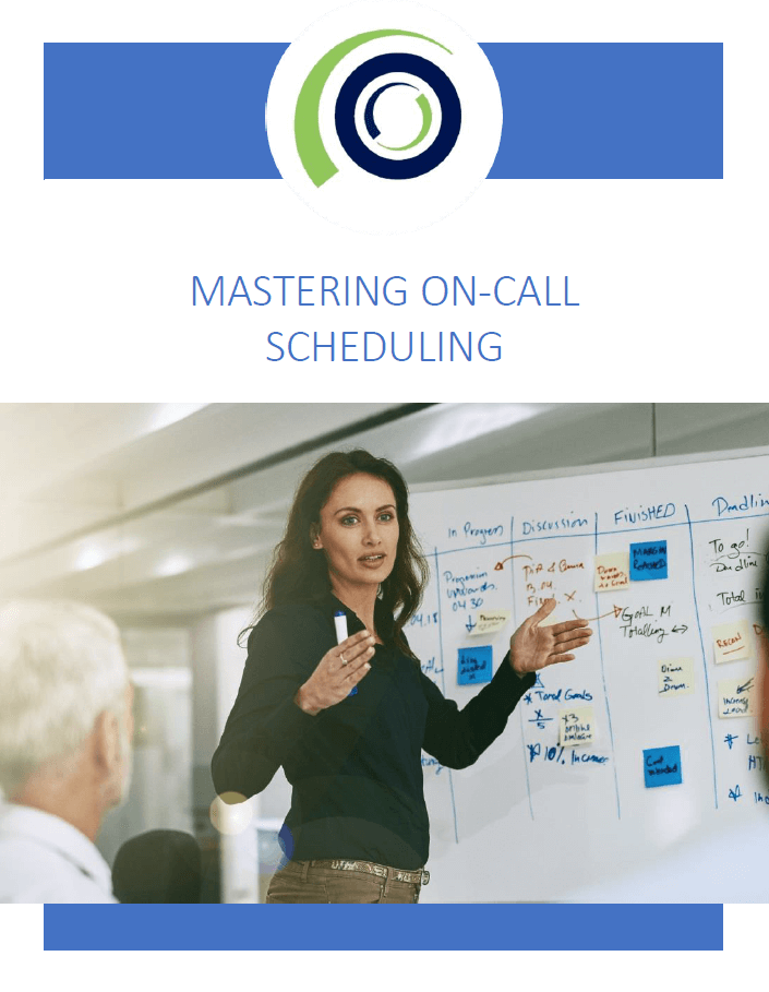 Digital on-call scheduling enables use of a mobile solution