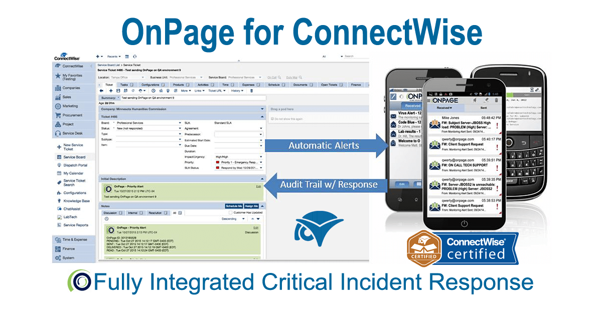 OnPage for ConnectWise