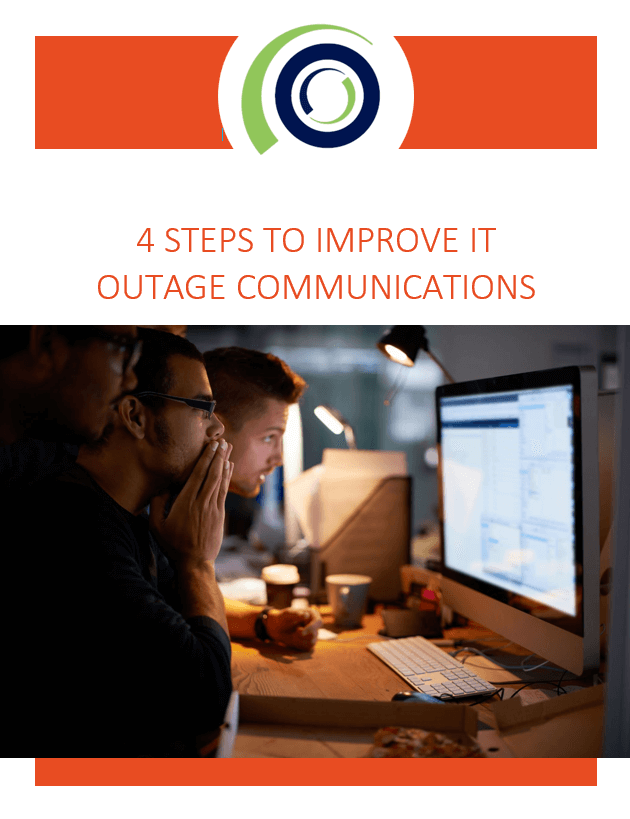 4 Steps to Improve IT Outage Communications whitepaper