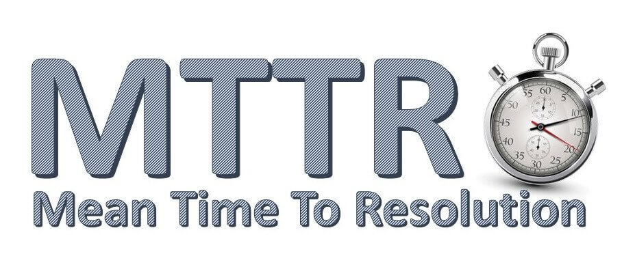 MTTR - Mean Time To Resolution