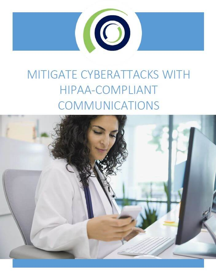 Mitigate Cybetattacks with HIPAA compliant communication cover
