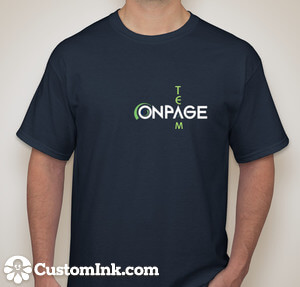 OnPage-T-Shirt-blue-front