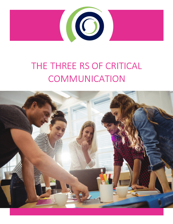 The 3 Rs of Critical Communication cover 1