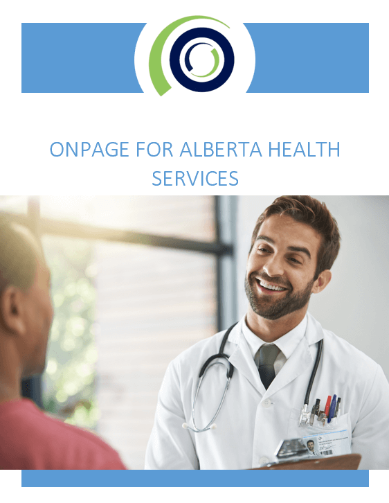ONPAGE FOR ALBERTA HEALTH SERVICES whitepaper