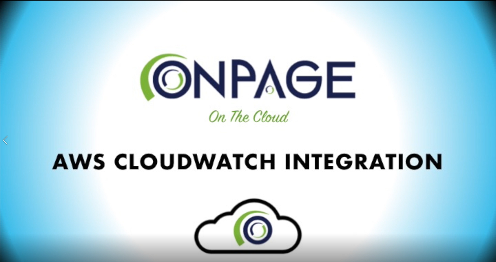 CloudWatch Integration Video