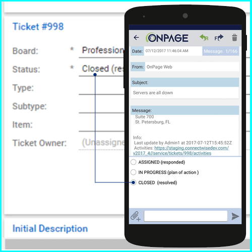 Real-time ticket updates at your finger tips