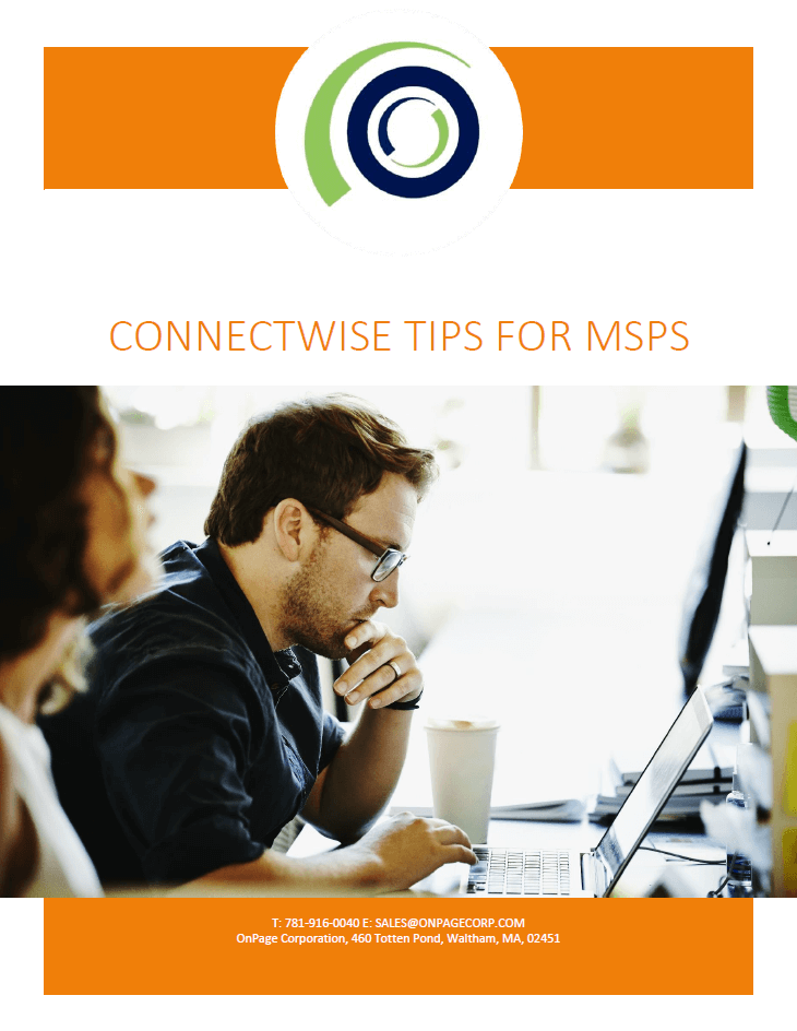 Connectwise Tips For MSPs whitepaper