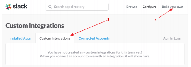 custom integrations for slack