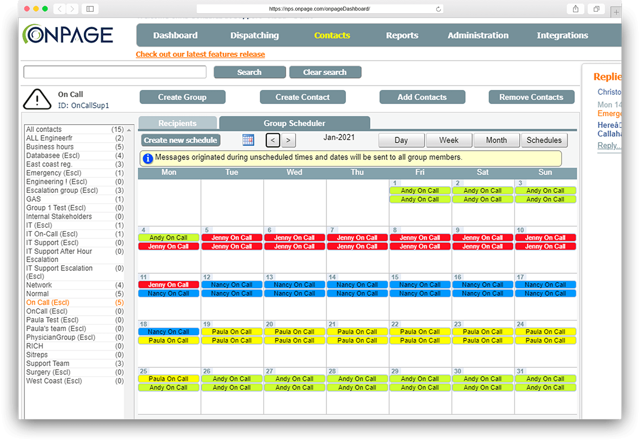 digital on-call scheduling