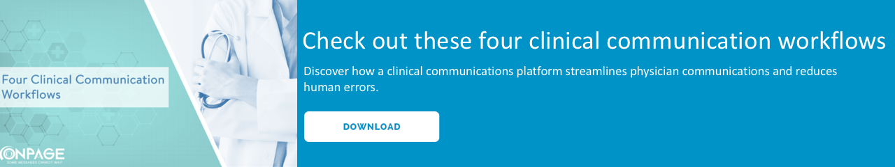 Four clinical communication workflows