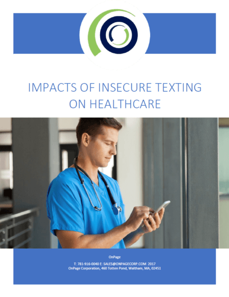 Impacts Of Insecure Texting On Healthcare