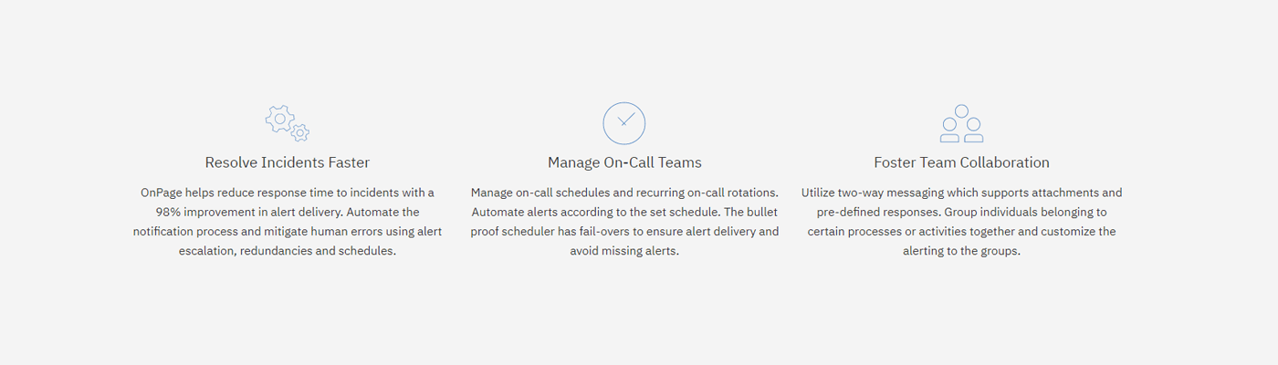 OnPage lets you resolve incidents, manage teams and foster collaboration