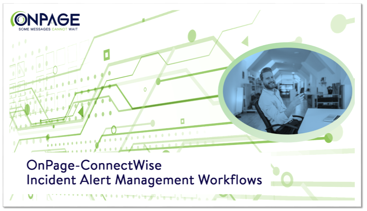 onpage connectwise incident alert management workflows ebook thumbnail