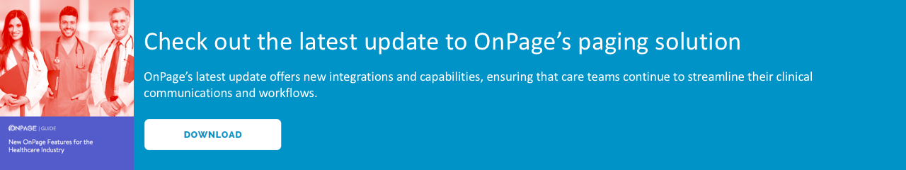 OnPage's new healthcare features