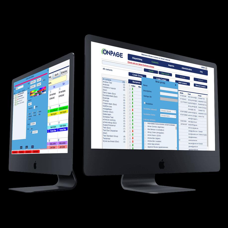 OnPage HIPAA-compliant console