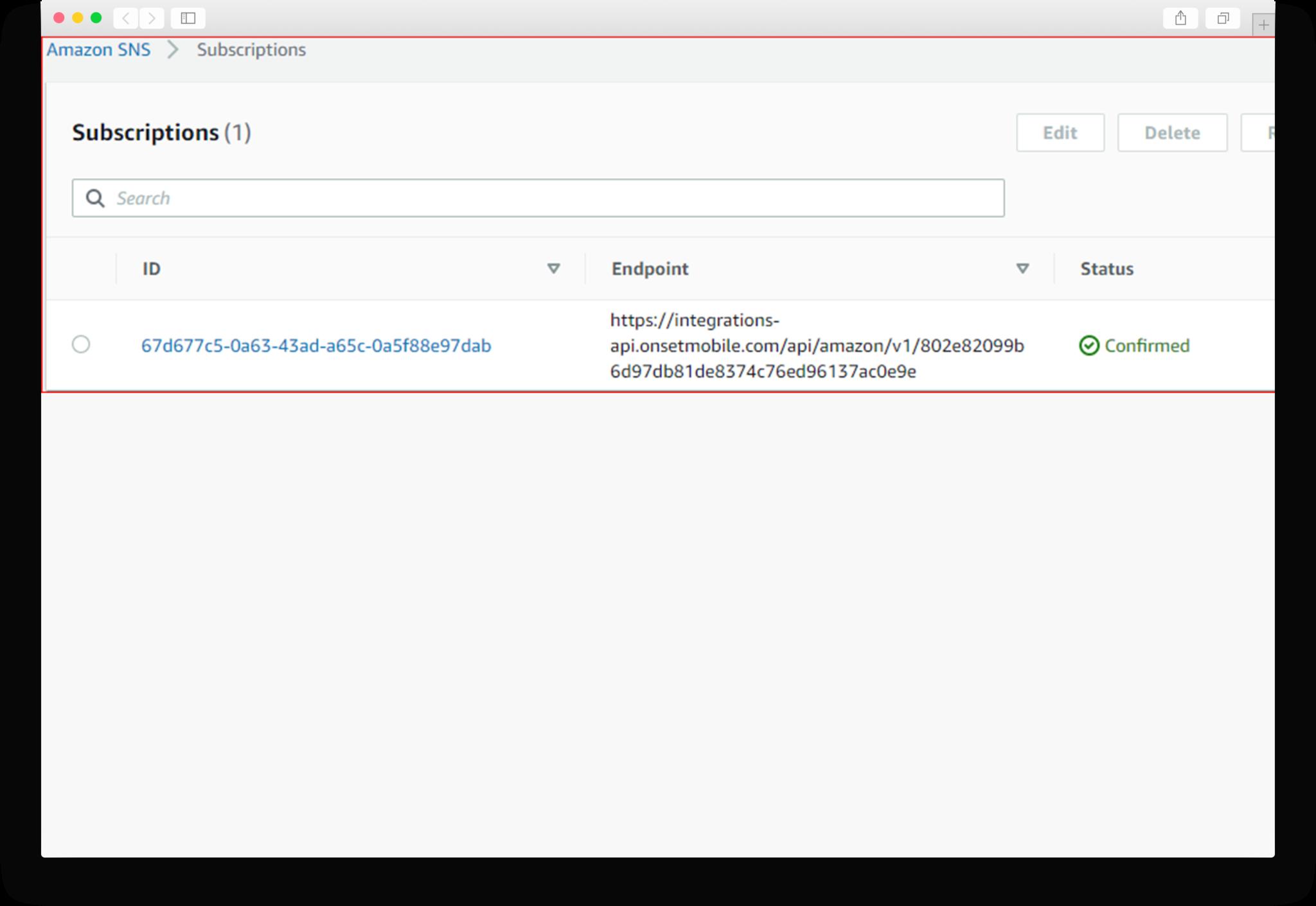 CloudWatch Notification Setup