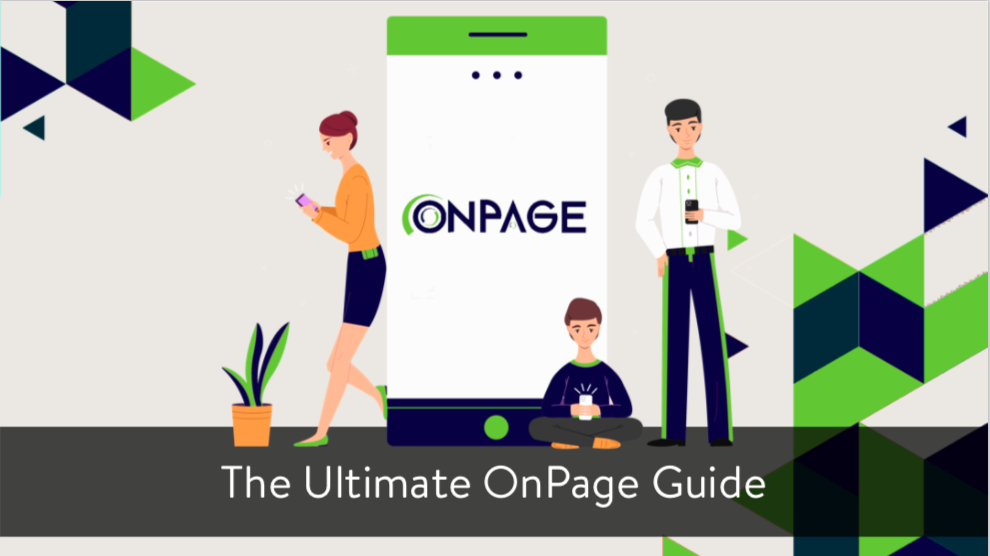 The Ultimate OnPage Guide eBook cover