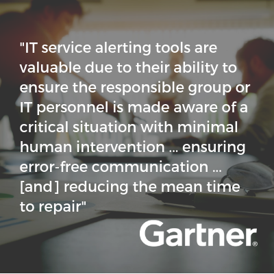 Gartner on alerting tools